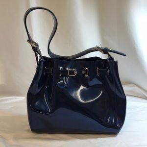 Beijo Shoulder Handbag Bucket Style Blue Purse